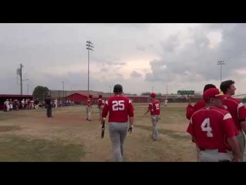 Jacob Spring with a 3 run Home Run vs. Allen County Community College