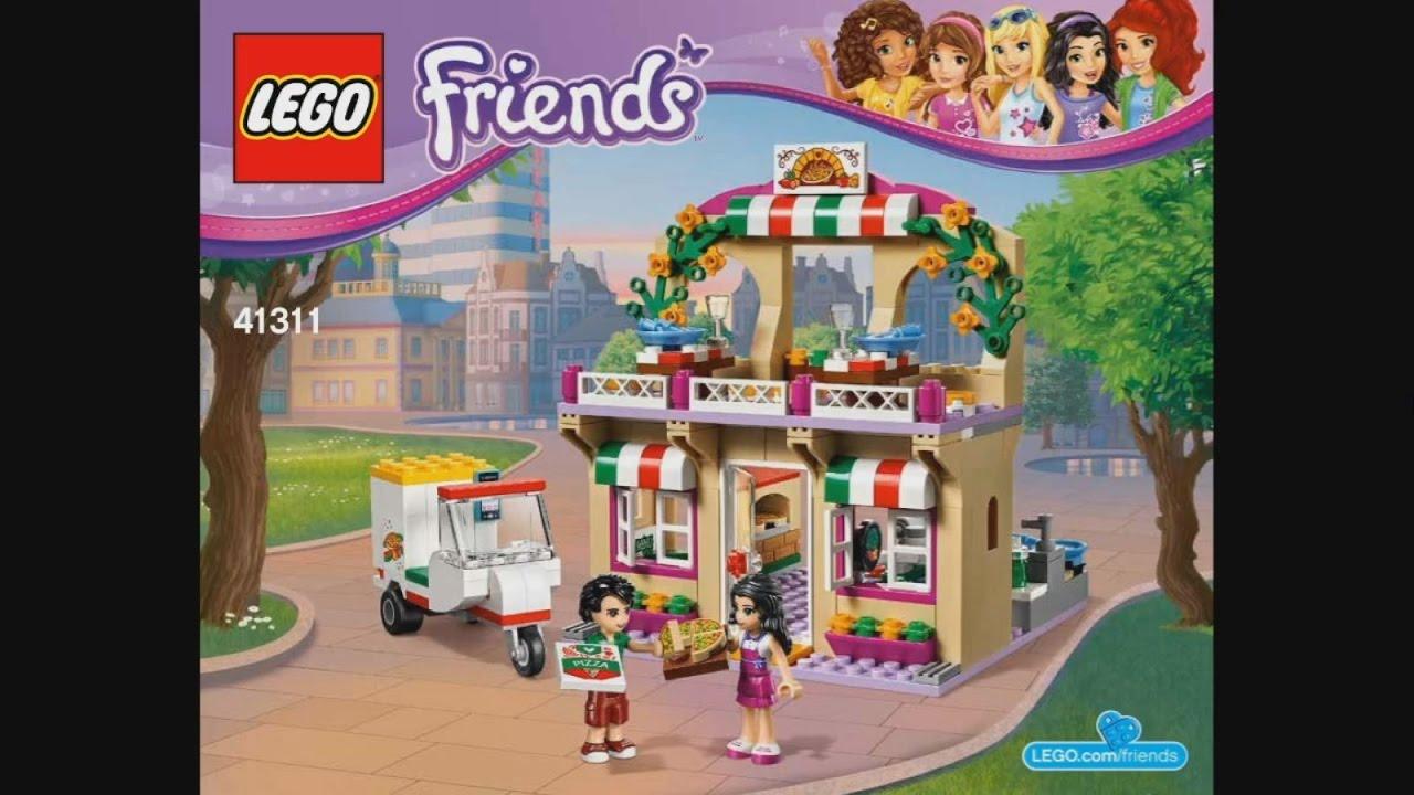 Lego Friends 41311 Heartlake Pizzeria Instruction Timelapse Youtube