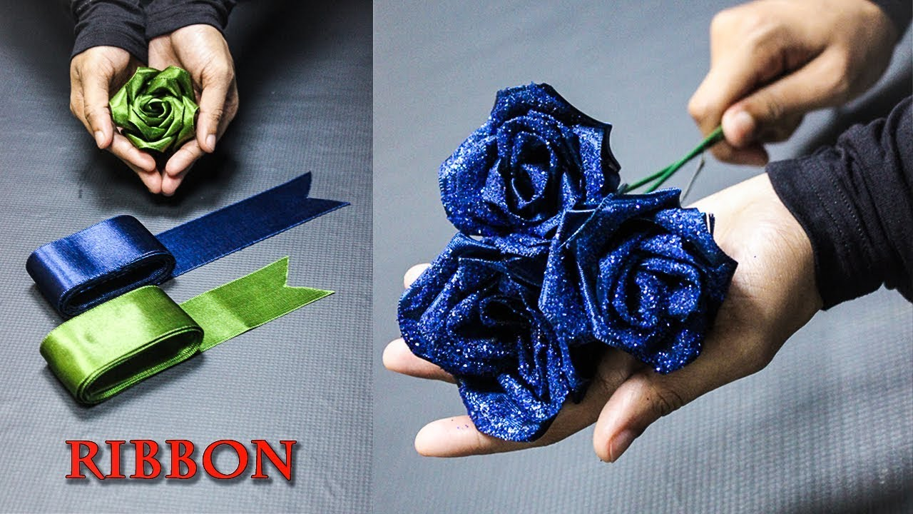 DIY Flowers | Satin Ribbon Flowers | Home decor | Craft Box In