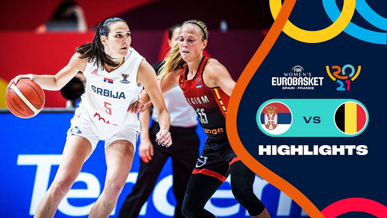 Serbia - Belgium   Highlights   Semi-Finals   FIBA Women's EuroBasket 2021