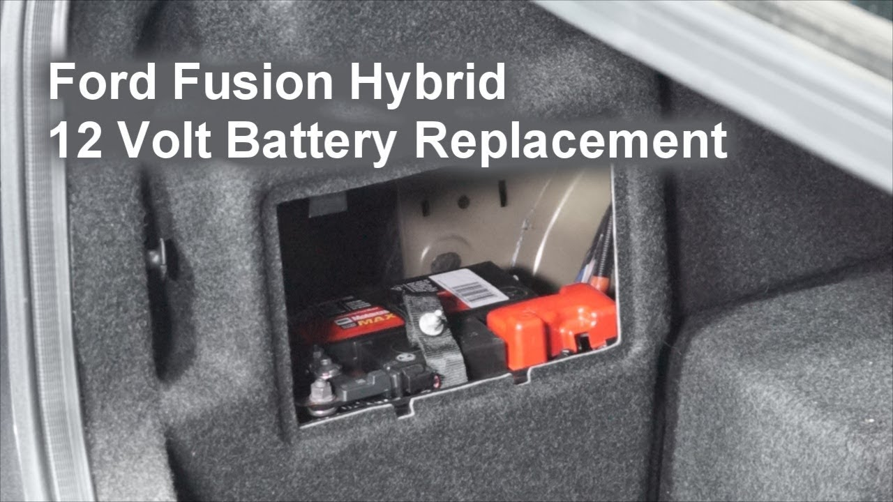 Ford Fusion Hybrid 12 Volt Battery Replacement The Battery Shop