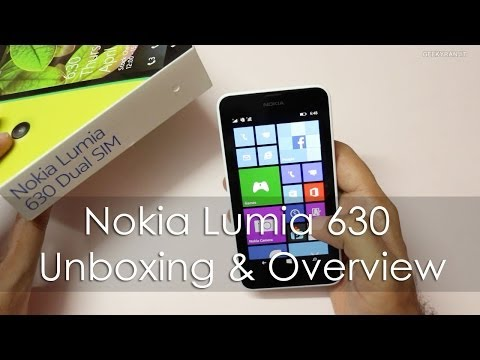 Nokia Lumia 630 Dual SIM Windows Phone 8.1 Unboxing & Overivew