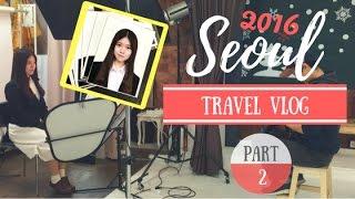 hoiching vlog seoul travel vlog part 2 4 拍證件照全記錄 梨花女子大學 剪瀏海 東大門