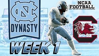 North Carolina Tar Heels Dynasty: Opening Day Beat Down Week 1 vs South Carolina (NCAA Football 14)