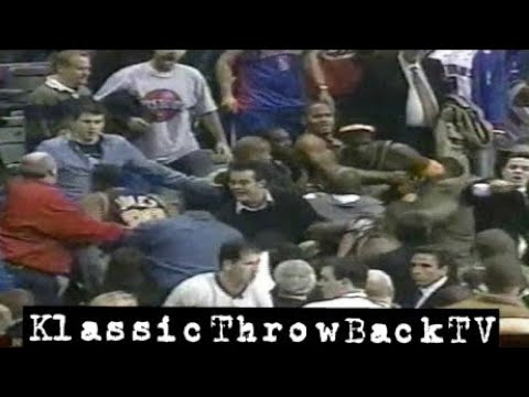 Throwback: Pacers vs Pistons Brawl - Full (2004)