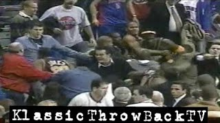 RandomThrowback: Pacers vs Pistons Brawl - Full (2004)