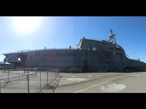 Tour of USS Coronado LCS-4 littoral combat aluminum trimaran ship -1/7