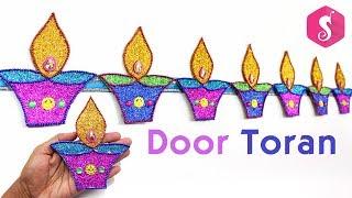 Diwali Door Hanging TORAN from Glitters | Diwali Decoration idea | Sonali