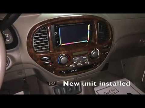 Toyota Sequoia Radio Replacement With Jensen Multimedia Double Dim