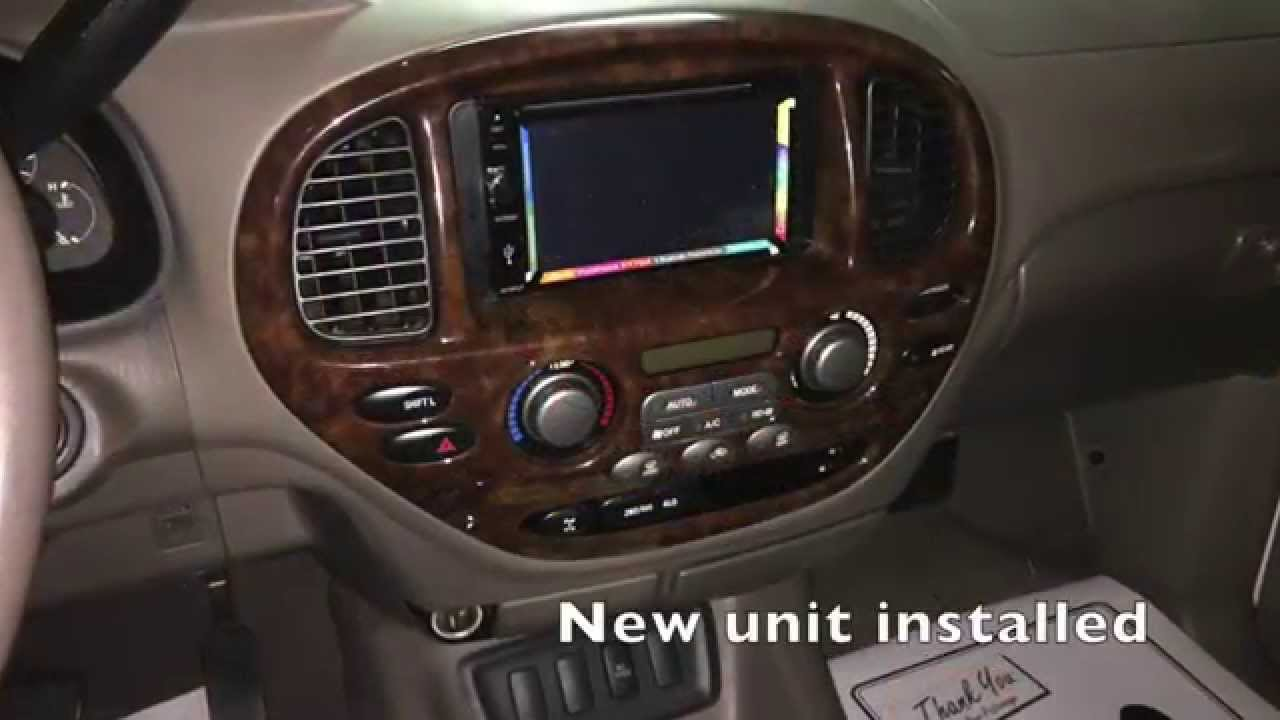 toyota sequoia radio replacement with jensen multimedia double dim [ 1280 x 720 Pixel ]