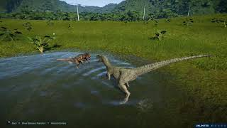 Jurassic World Evolution Velociraptor Vs Dilophosaurus(PC)[HD]