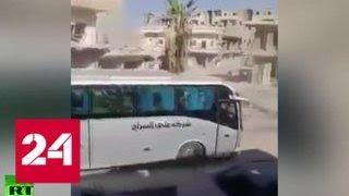 Американские военные помогали игиловцам бежать из Ракки - Россия 24