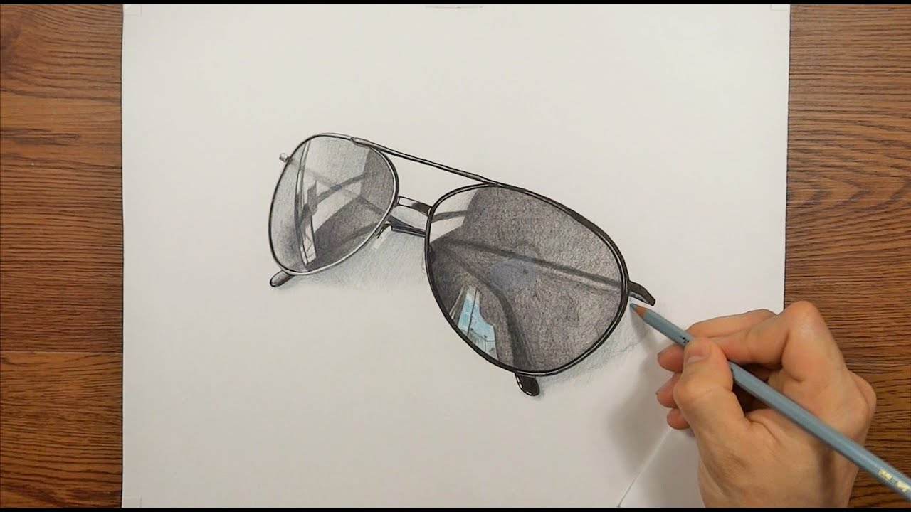 bdc117ee1f0d Drawing Time Lapse My Sunglasses 3D ART - YouTube
