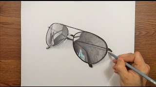 Drawing Time Lapse  My Sunglasses 3D ART