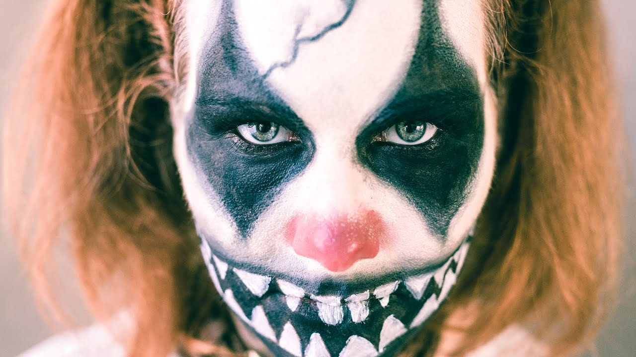 Clown Schminken Leicht Böser Creepy Clown Easy Halloween Makeup