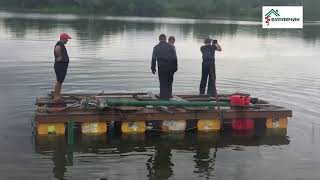 Монтаж винтовых свай на воде под пирс(, 2018-07-10T15:48:16.000Z)