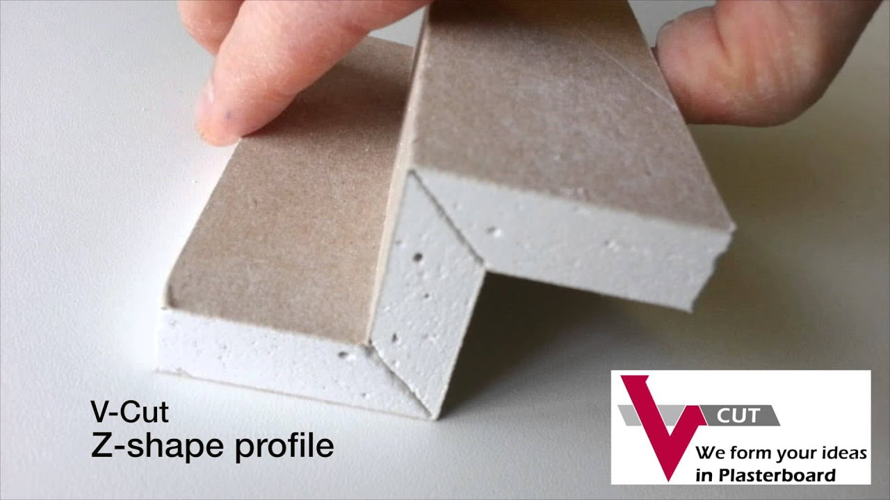 V Cut Z Shape Plasterboard Youtube