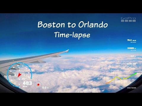 GoPro Hero 5 - Boston to Orlando Flight Telemetry Time-lapse