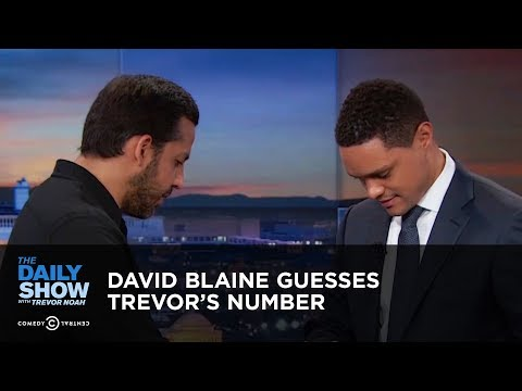David Blaine Guesses Trevor's Number - Between the Scenes | The Daily Show