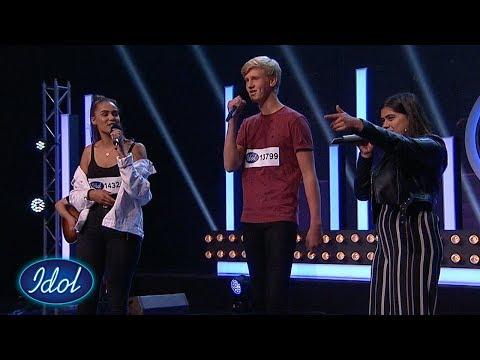 Casper, Ingita og Pernilles cover av Justin Bieber får dommerne til å smile   Idol Norge 2018