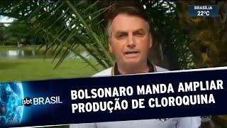 Bolsonaro Determina Ampliação Da Produção De Cloroquina | Sbt Brasil 21/03/20
