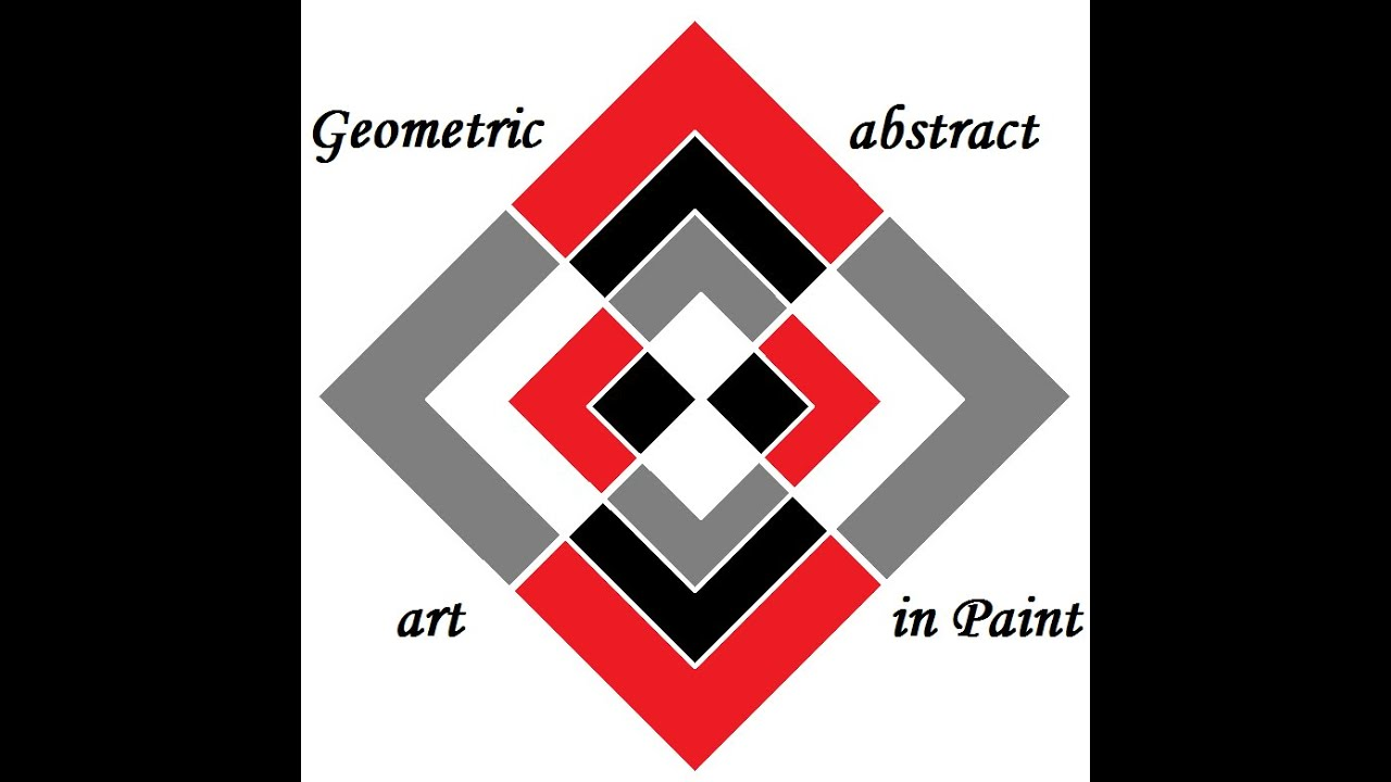 Easy Geometric Abstract Art in Paint -part 1 - YouTube