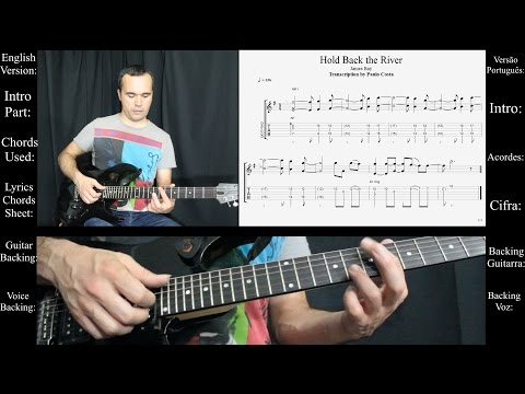 Hold Back the River, James Bay, Lição Guitarra, Guitar Lesson, Tutorial, Backing track, Tab