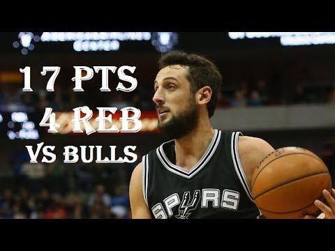 Marco Belinelli 17 Pts 4 Reb Chicago Bulls vs San Antonio Spurs
