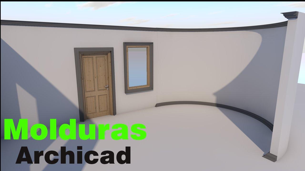 Truco Archicad #7 | Como hacer molduras estilo pecho de paloma - YouTube