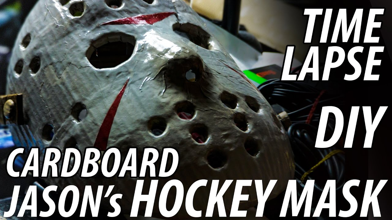 DIY Jasons Hockey Mask From Friday The 13th Made Cardboard MUST SEE Time Lapse