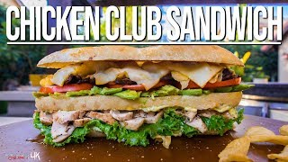 Cover images The Best Chicken Club Sandwich | SAM THE COOKING GUY 4K