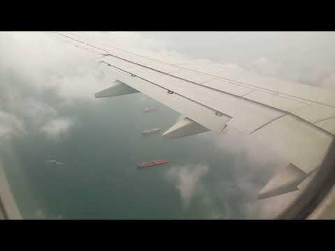 Landing in Singapore Changi Airport