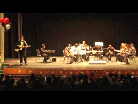"""Colin on keyboards performing Fun's """"We Are Young"""" at the 2013 NWC Spring Concert"""
