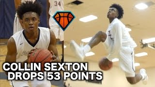 collin sexton goes crazy for 53 points 11 threes on his senior night