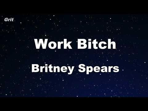 Work B**ch - Britney Spears Karaoke 【No Guide Melody】 Instrumental