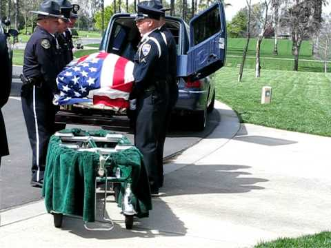 Burial Service for Cathedral City police Officer Jermaine Gibson 3/25/2011