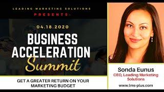 Sonda Eunus, CEO of Leading Marketing Solutions,