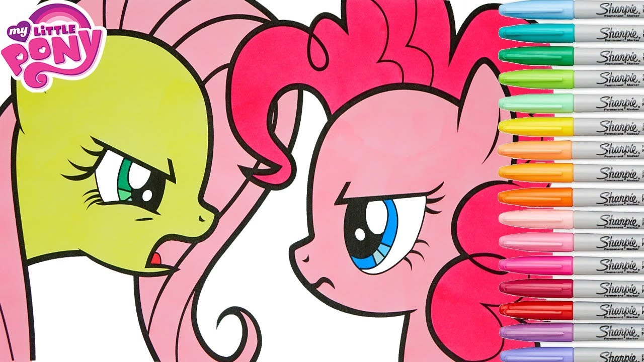 My Little Pony Coloring Book Pages Fluttershy Pinkie Pie