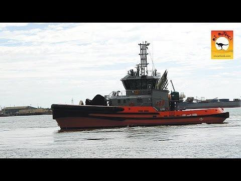 Tug Boat training @ Port Hedland Harbor, Seafarers Tour, outback Pilbara, Western Australia