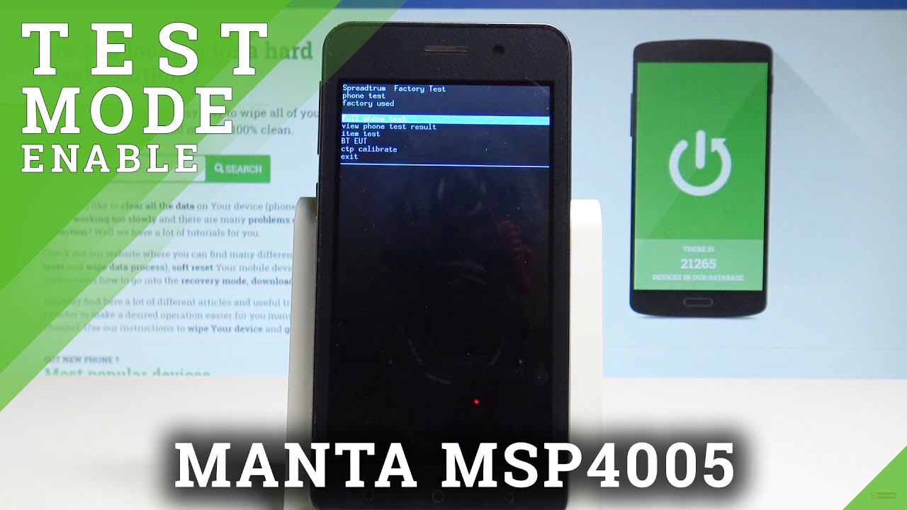 How to Activate Test Mode in MANTA MSP4005 - Secret Feature / Hardware Test