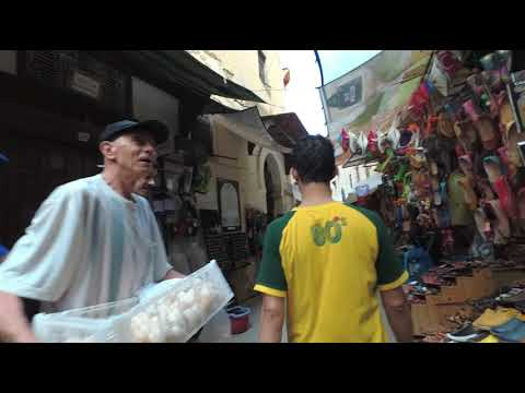 Walking in Medina of Fez , Morocco