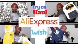Aliexpress and Wish Try on Haul/Review for Toddlers and Home Decoration