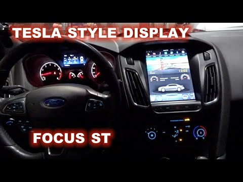 HOW TO INSTALL A TESLA STYLE RADIO ON A FORD FOCUS ST