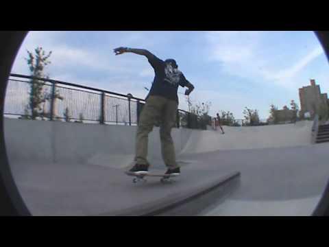 Derek Holmes At Far Rockaway Skatepark