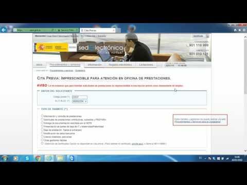 Como pedir cita en El Inem from YouTube · Duration:  4 minutes 6 seconds