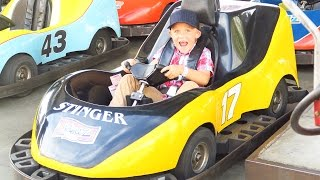 KIDS Laugh at FIRST Go-Cart RACE! THE BEST DAY! KiDS VICTORY DANCE!