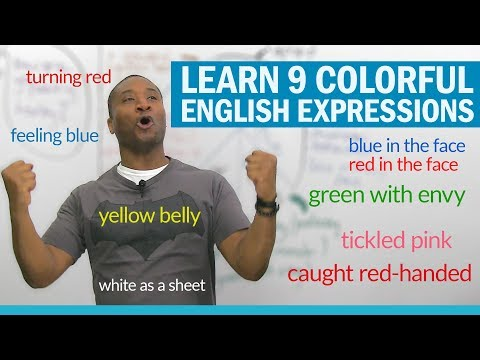Learn English color expressions to talk about situations & emotions