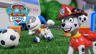 Paw Patrol Videos - The Paw Patrol Play Soccer