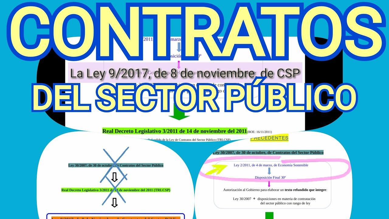 Los Contratos Del Sector Público Ley 9 2017 De 8 De Noviembre 1a Parte Youtube
