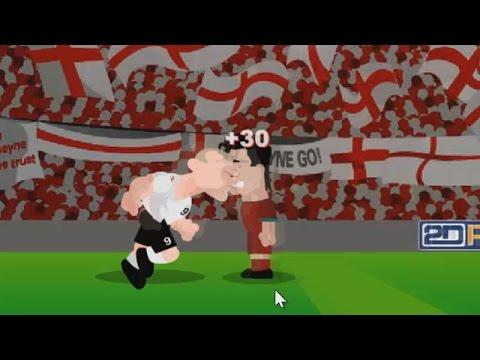 Wayne Rooney Heading Cristiano Ronaldo and Others
